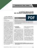 La Nueva Regulación Del Silencio Administrativo en El Perú - Autor José María Pacori Cari