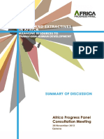 2012 DISCUSSION DOCUMENT Equity in Extractives into Transform Human Development Summary of Discussion ENG