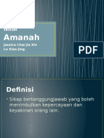 Nilai Amanah