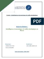 Projet Intelligence économique au Maroc