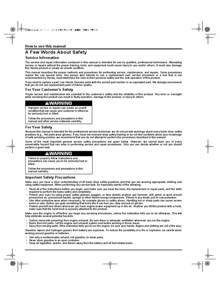 gx120 160 200 ut2 english pdf horsepower ignition system