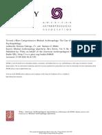 Fabrega and Miller - Toward a More Comprehensive Medical Anthropology