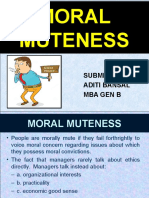 Moral Muteness