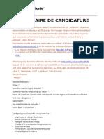 01. Formulaire Appel à Candidatures Prix F3535 2017