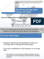 Sovereign Debt Restructurings, Debt Overhang, Aging