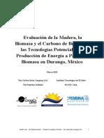 1107Evaluación de La Madera, La Biomasa y El Carbono de Bosques y Las Tecnologías Potenciales...