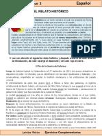 6to Grado - Español - El Relato Histórico