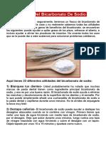 22 usos del bicarbonato de sodio