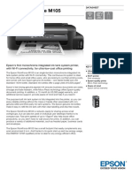 Epson Workforce M105 Datasheet
