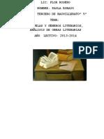 Los Géneros Literarios y Escuelas Literarias