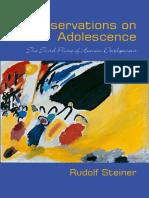 Observations on Adolescence - RUDOLF STEINER