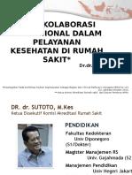 Interkolaborasi Profesional Dalam Pelayanan Kesehatan Di Rumah Sakit