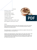 Recipe's of Unbaked Desserts