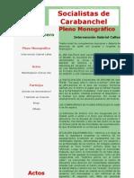 Boletín Socialistas de Carabanchel Nº24 - Pleno Monográfico Carabanchel