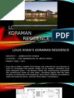 Louis Khan's Koraman Ppt Interior Design