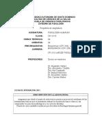 Plan 14 Teoria FisiologiaHumanaI(CFI 3110)Medicina