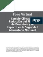 Foro Virtual Cambio Climático, Reducción del Riesgo de Desastres y su Impacto en la Seguridad Alimentaria Nacional BOLIVIA