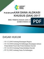 9.Padang. Kebijakan Dana Alokasi Khusus (Dak) 2017 Roren