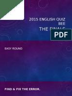 2015 Quiz Bee Finals
