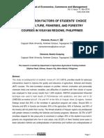 Predisposition Factors of Students