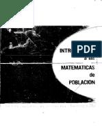Introduccion a Las Matematicas de Poblacion