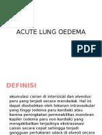 Acute Lung Oedema