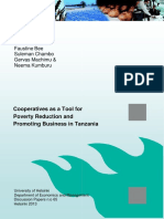 Cooperatives as a Tool for Poverty Reduction and Promoting Business in Tanzania
