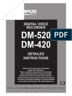 DM-520 DM-420 Detailed Instructions En
