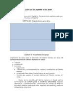 Ley 1164 de Octubre 3 de 2007 Resumen y Comentarios