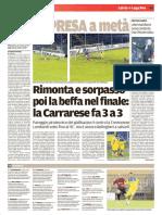 Il Tirreno Massa Carrara 06-02-2017 - Calcio Lega Pro - Pag.2
