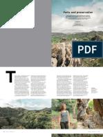 Masungi Georeserve on PAL's Mabuhay Magazine Jan2017