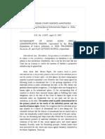 Government of Hong Kong Special Administrative Region vs. Olalia, Jr., 521 SCRA 470 , April 19, 2007