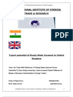 Export Potential of RMG From India to UK