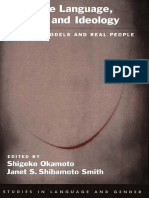 Japanese Language, Gender, And Ideology - Cultural Models and Real People