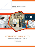 API Drug Manufacturing Services and Process