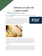 Elaboracion de Un Plan de Negocios