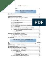 IMAGERIE MEDICAL RECALAGE Table des matières