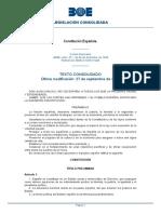 CONSTITUCION ESPAÑOLA -BOE-A-1978-31229-consolidado