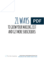 21 Ways to Grow Your Mailing List and Get More Subscribers