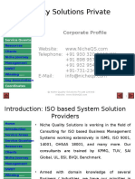 Niche QS Consulting Services for ISO 14001, OHSAS 18001. 9001