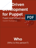 TDD (Test Driven Development) for Puppet, by Gareth Rushgrove