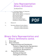 CSC102 Binary Data Representation...