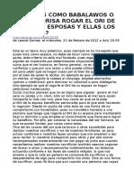 ¿PODEMOS COMO BABALAWOS O COMO OLORISA ROGAR EL ORI DE NUESTRAS ESPOSAS Y ELLAS LOS NUESTROS.doc