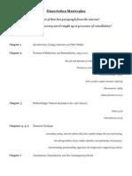 Dissertation Master Plan