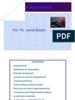 autoestima. Ps. Jaime Botello Valle