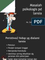 masalah psikologis lansia