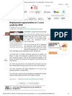 Employment Opportunities to 1 Crore Youth by 2020 - The Economic Times