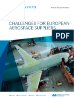 Key Challenges for European Aerospace Suppliers
