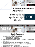 MSBA International Applicant Quick Guide 2017