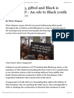 To Be Young, Gifted and Black is Where It's at! An Ode to Black Youth – Vanguard